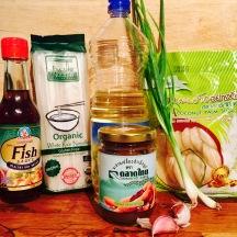 Ingrédients pad thai